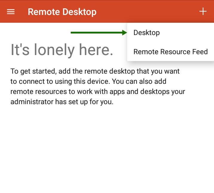 Выбираем Desktop