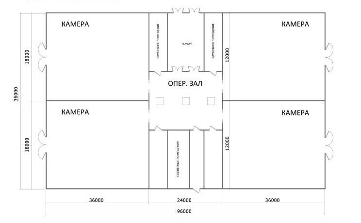 Схема складского помещения